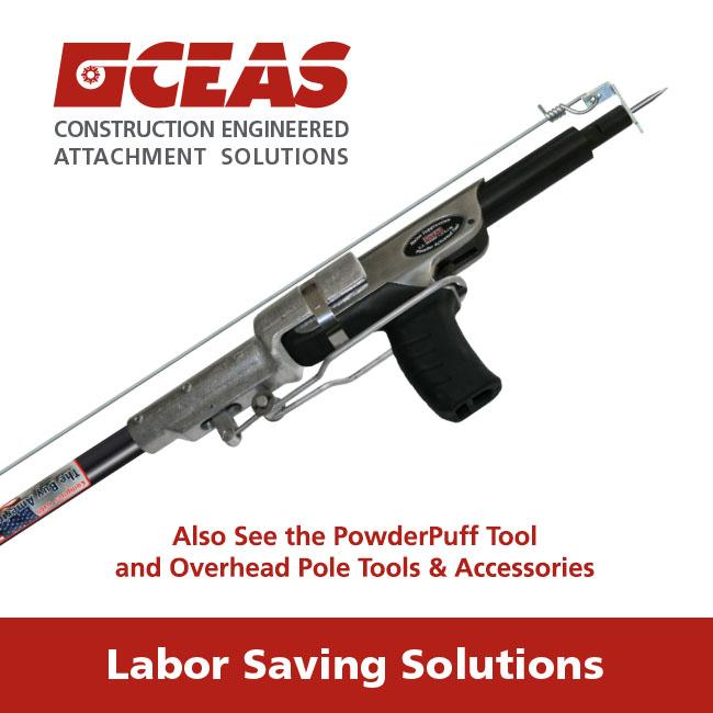 Pre-Tied Ceiling Wire PowderPuff 1-1/4\