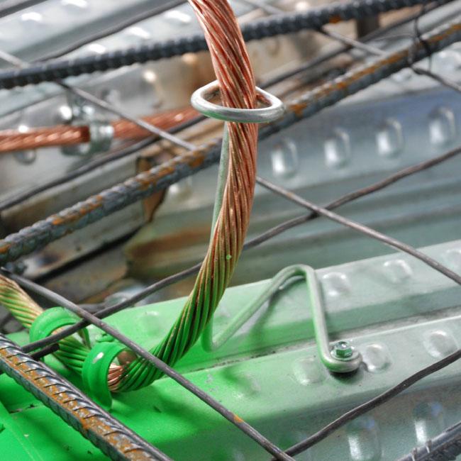 Stiffy Fig 341 - Steel Deck Tree with Loop | 300 Series CIP | CEAS house conduit wiring CEAS Attachments